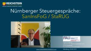 Nürnberger Steuergespäche: StaRUG, SanInsRoG